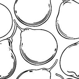 bergamot fruit vector pattern ベクター