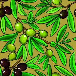 olive vector pattern ベクター