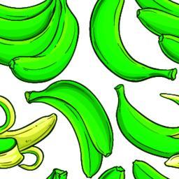 green banana fruit vector pattern ベクター