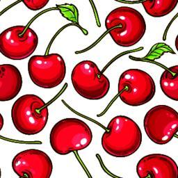 cherry berries vector pattern ベクター