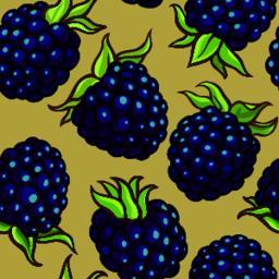 blackberry berries vector pattern ベクター
