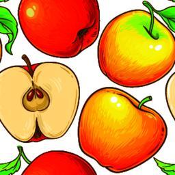 apple fruit vector pattern ベクター