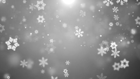 White Christmas Background With White Snow Snowflakes Loop Alpha Green Screen Footage
