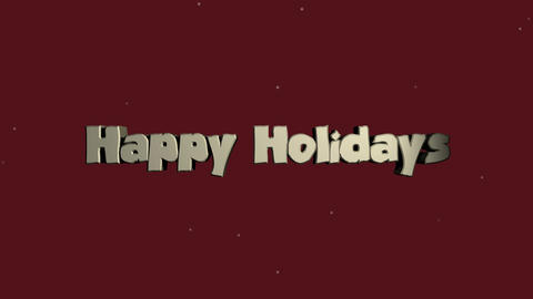 3D text reveal - Happy Holidays with snowfall After Effects Template