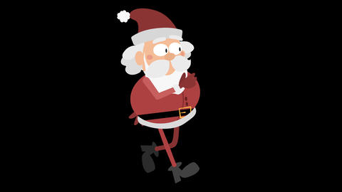 Santa Claus Animation Element 4 - running CG動画素材