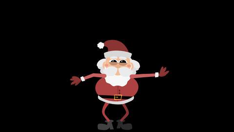 Santa Claus Animation Element 28 - jumping CG動画素材