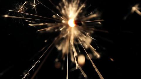 Burning bengal lights sparkler Footage