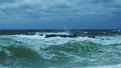 Stormy Ocean Waves Footage