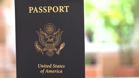 USA Passport coming into view Footage