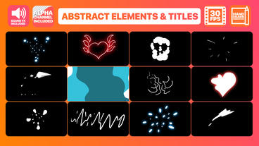Flash FX Abstract Elements And Titles After Effects Template