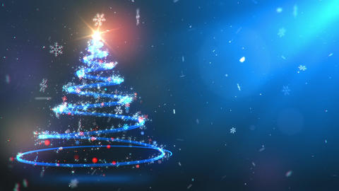 Twirling Particles Magical Christmas Tree Twirling Particles Magical Christmas GIF