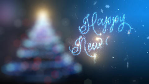 Magical Happy New Year Text Pack CG動画素材