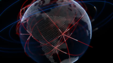 Global Network Technology Animation