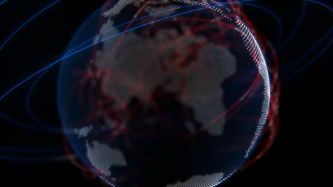 Global Network Technology Stock Video Footage
