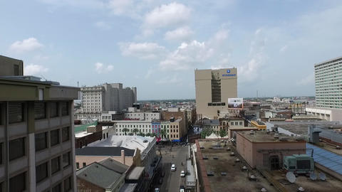 aerial view of St. Charles ave. downtown New Orleans Live Action