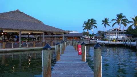 A beautiful bay in the Florida Keys - evening view Live Action