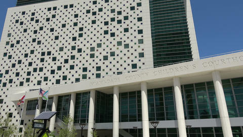 Miami Dade County Childrens Courthouse Footage