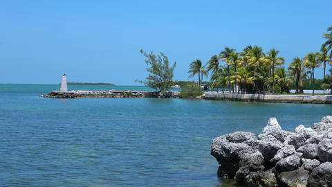 The beautiful scenery of the Florida Keys Footage