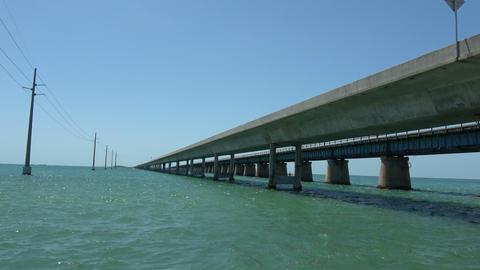 Amazing 7-Mile Bridge in the Florida Keys Footage