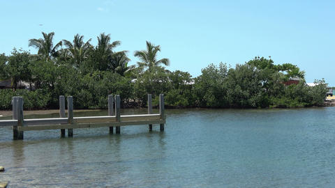 Small jetty in the Florida Keys Live Action