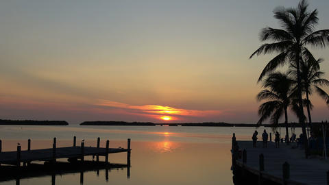 The beautiful Florida Keys at sunset Footage