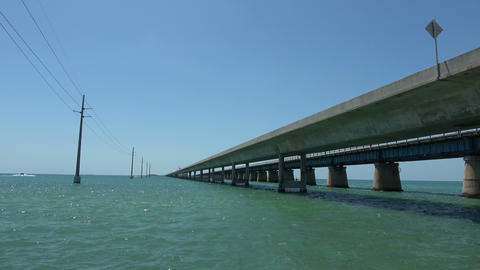 Amazing 7-Mile Bridge in the Florida Keys Live Action
