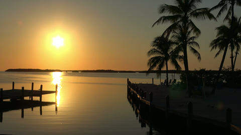 Wonderful paradise bay in the Keys of Florida at sunset Live Action