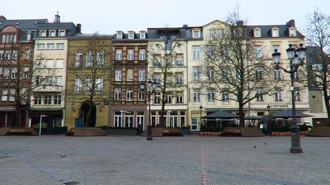Luxemburg City, Luxembourg – winter 2016. Place Guillaume II, west view ビデオ