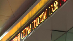 CHINA STOCKS TICKER HONG KONG HKE Footage