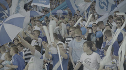 Active football fans during a match Footage