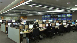 INTERIOR OF DEALING ROOM KOREA STOCK EXCHANGE KOSPI ASIAN SHARES 영상물