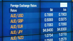 ELECTRONIC BOARD WITH COMMODITIES PRICES AND FOREIGN EXCHANGE RATES Footage