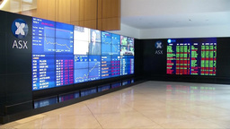 SYDNEY STOCK EXCHANGE INSIDE ELECTRONIC BOARD DISPLAYING STOCK Footage