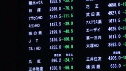 Japan Stock Exchange Ticker Footage