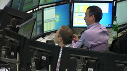 TRADER INVESTOR WORRIED LOOKING AT STOCK MARKET CRASH Footage