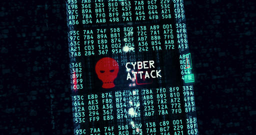 Cyber attack and data theft Animation