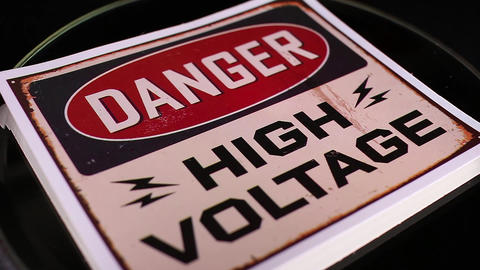 Danger high voltage sign symbol Footage