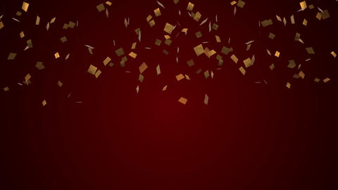 Confetti gold Festive party cracker CG動画素材