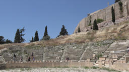 Greece Athens Theatre of Dionysus Eleuthereus at Acropolis hillside ビデオ