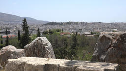 Greece Athens panorama view to the capital city from Acropolis Hill Footage