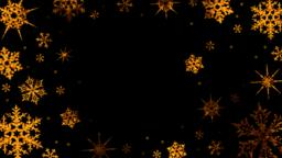 Burning snowflakes rotate and form a circle on a transparent background Animación