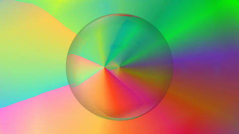 Magic rainbow abstract video with rainbov gradient circle, color space rotating Animation