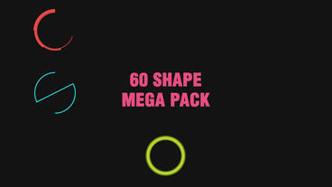 60 shape pack After Effects Template