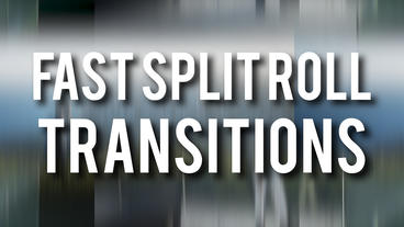 Fast Split Roll Transitions Premiere Pro Template