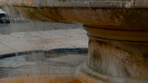 the fountain with its top the statue of Madonna Verona is an important symbol of GIF