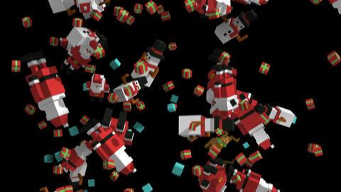 Seamless animation of geometric Christmas elements falling. Christmas funny Animation