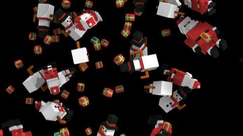 Seamless animation of geometric Christmas elements . Christmas funny background Animation