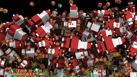 Seamless animation of geometric Christmas elements... Stock Video Footage