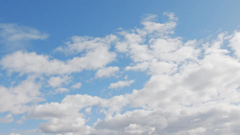Blue Sky with White Clouds GIF