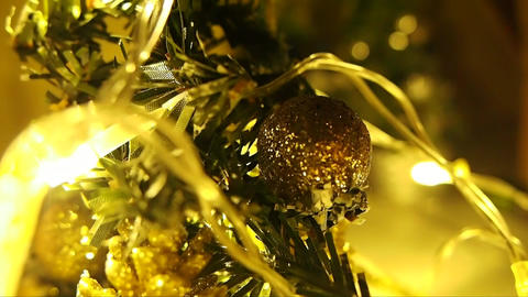 Christmas Balls on Christmas Tree Live Action
